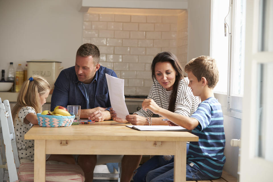 Experts say many British parents aren't helping with homework for fear of embarrassment [Photo: Getty]