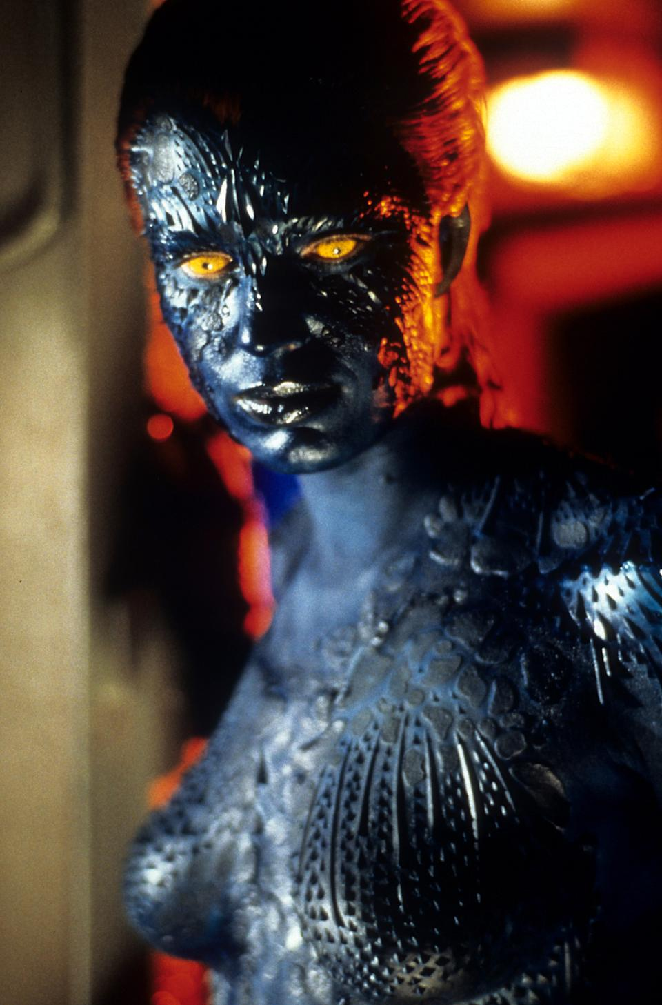 Rebecca Romijn in a scene from the film 'X-Men', 2000. (Photo by 20th Century-Fox/Getty Images)