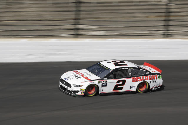 "<a class=""link rapid-noclick-resp"" href=""/nascar/sprint/drivers/1124/"" data-ylk=""slk:Brad Keselowski"">Brad Keselowski</a> has three poles in eight races after a 68-race streak without starting first. (AP Photo/Darron Cummings)"