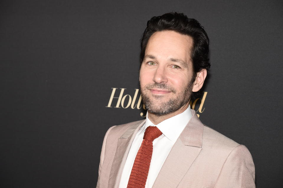 Actor Paul Rudd arrives at the Hollywood Foreign Press Association and The Hollywood Reporter celebration of the 2020 award season and Golden Globe Ambassador reveal at Catch LA on Thursday, Nov. 14, 2019, in West Hollywood, Calif. (Photo by Dan Steinberg/Invision/AP)