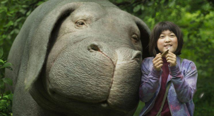 Ahn Seo-hyun as Mija with Okja (Netflix)