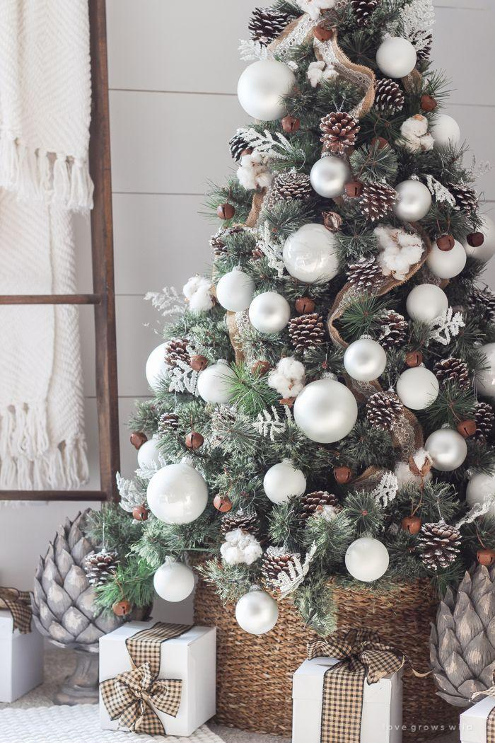"<p>Burlap ribbon, giant white bulbs, pinecones, and shiplap in the background—this farmhouse tree would make Joanna Gaines proud. </p><p>See more at <a href=""http://lovegrowswild.com/2016/11/simple-farmhouse-christmas-bedroom/?utm_source=MadMimi&utm_medium=email&utm_content=New!+Simple+Farmhouse+Christmas+Bedroom&utm_campaign=20161021_m135030288_RSS+Feed+for+http://lovegrowswild_com/feed/&utm_term=Read+More"" rel=""nofollow noopener"" target=""_blank"" data-ylk=""slk:Love Grows Wild"" class=""link rapid-noclick-resp"">Love Grows Wild</a>.</p><p><a class=""link rapid-noclick-resp"" href=""https://www.amazon.com/Burlap-Ribbon-Ribbons-Overlocked-Wreaths/dp/B07PXM1V93/?tag=syn-yahoo-20&ascsubtag=%5Bartid%7C10057.g.505%5Bsrc%7Cyahoo-us"" rel=""nofollow noopener"" target=""_blank"" data-ylk=""slk:SHOP RIBBONS"">SHOP RIBBONS</a> <em><strong>Burlap Ribbon, $20</strong></em><br></p>"