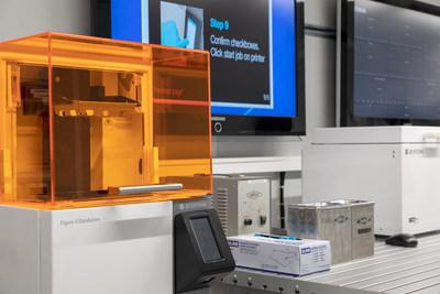 "Nokia has added 3D Systems' Figure 4 Standalone to its ""Factory in a Box"" mobile manufacturing solution – demonstrating how manufacturers can stay ahead of the demands of industry 4.0. (Image courtesy of Nokia)"