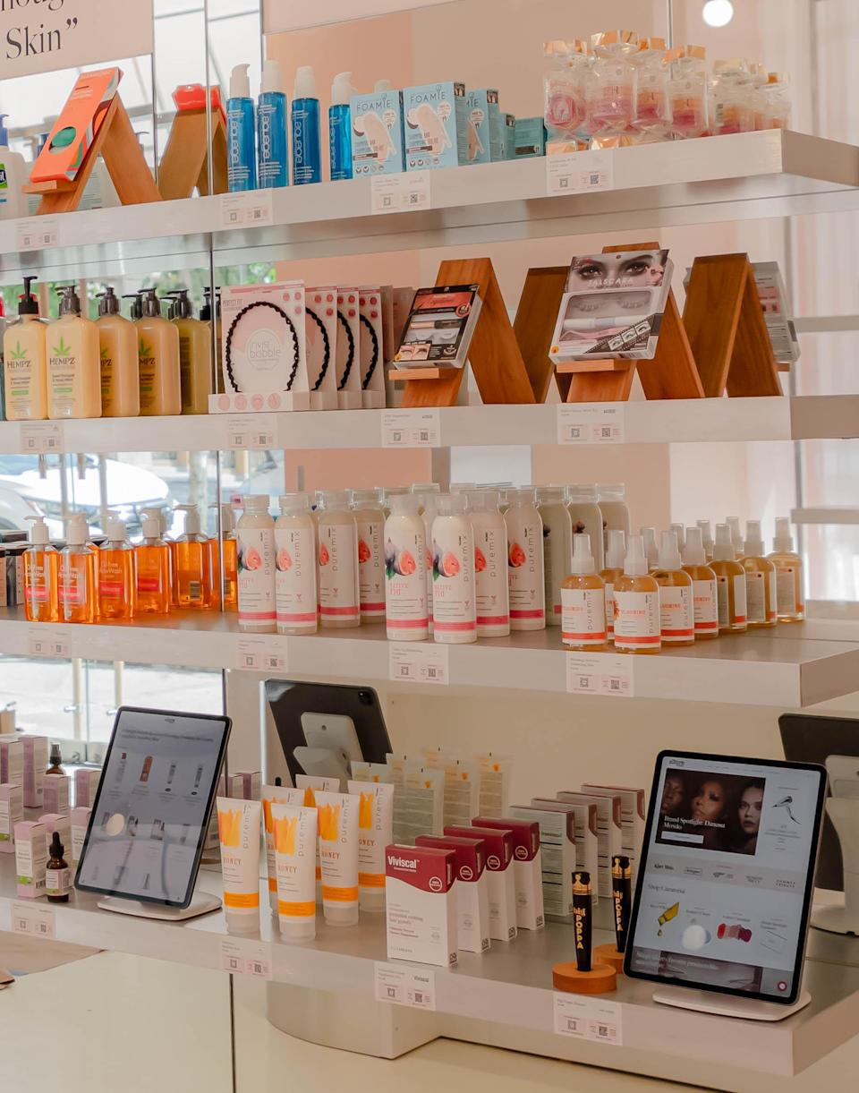 A look inside Allure's first retail store located in New York City. - Credit: Allure Store/Architect of Record KTISMA Studio