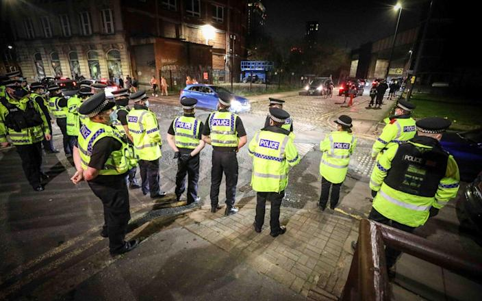 Objects were reportedly thrown at police. Officers later dispersed the ravers - ASP