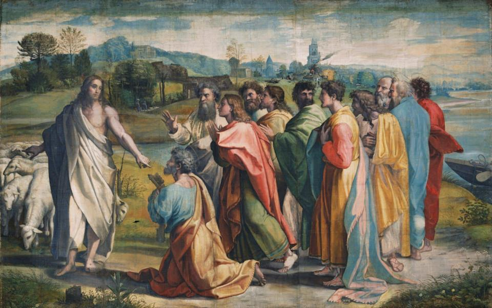 Christ's Charge To Peter, a tapestry design created by Raphael for the Sistine Chapel - Mike Kitcatt