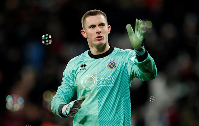 Soccer Football - FA Cup Third Round Replay - West Ham United vs Shrewsbury Town - London Stadium, London, Britain - January 16, 2018 Shrewsbury Town's Dean Henderson after the match Action Images via Reuters/John Sibley