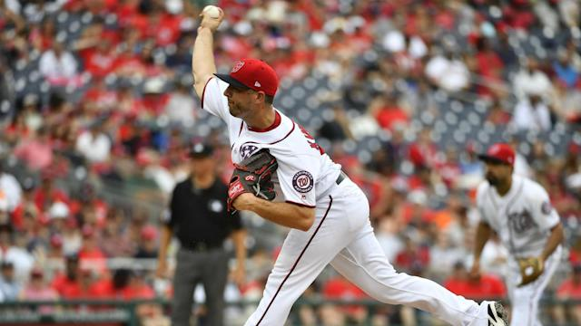 <p>The Washington Nationals made their first move ahead of Tuesday's trade deadline, sending reliever Brandon Kintzler to the Chicago Cubs. </p>