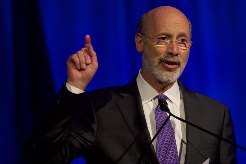 PHILADELPHIA, PA - NOVEMBER 01: Governor Tom Wolf (D-PA) speaks at the Independence Dinner on November 1, 2019 in Philadelphia, Pennsylvania. House Speaker Nancy Pelosi will deliver closing remarks at the inaugural event that gathers Democratic leaders, donors, and grassroots supporters. (Photo by Mark Makela/Getty Images)