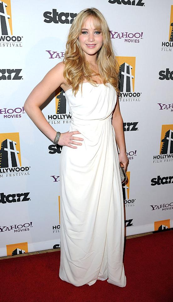 "<a href=""http://movies.yahoo.com/movie/contributor/1808951779"">Jennifer Lawrence</a> attends the 14th Annual Hollywood Awards Gala at the Beverly Hilton Hotel on October 25, 2010."