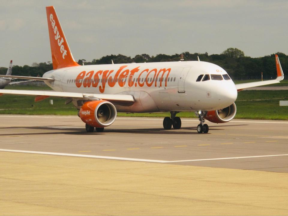 Going places? An easyJet Airbus A320 at Gatwick airport (Simon Calder)