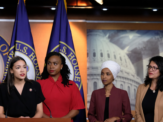 'The Squad' speaks out following US president's racist 'go home' tweet (Alex Wroblewski/Getty Images)