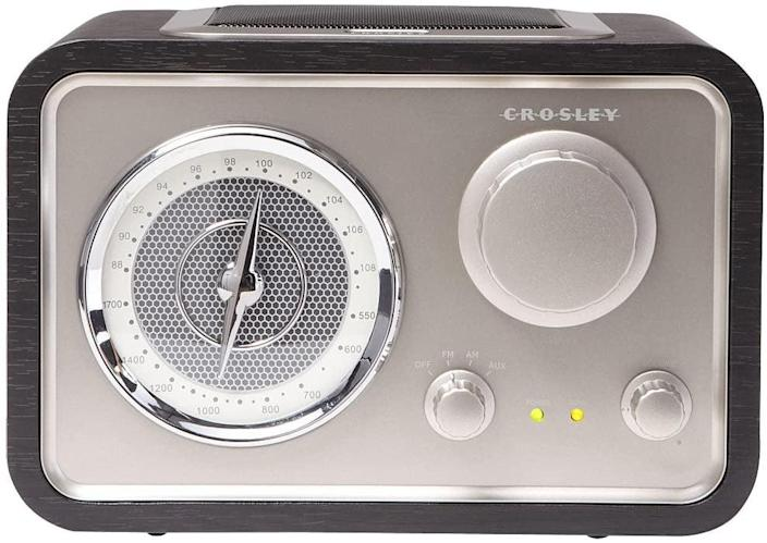 <p>Let the good tunes play with this <span>Crosley Solo Radio</span> ($94).</p>