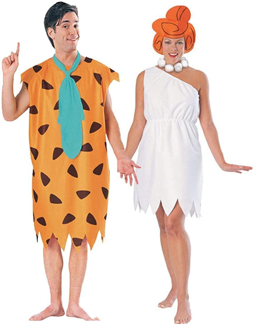 Fred and Wilma Flinstone couples costume, best couples Halloween costumes 2021