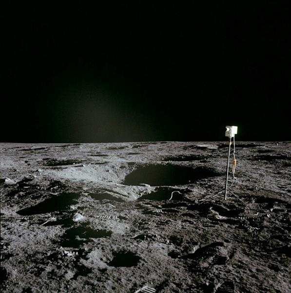 A photo obtained from NASA shows a camera left by the Apollo 12 crew during their landing on the moon in 1969 (AFP Photo/Handout)