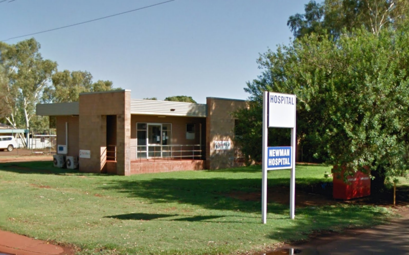 A Google Maps image of Newman Hospital in Western Australia's rural north.