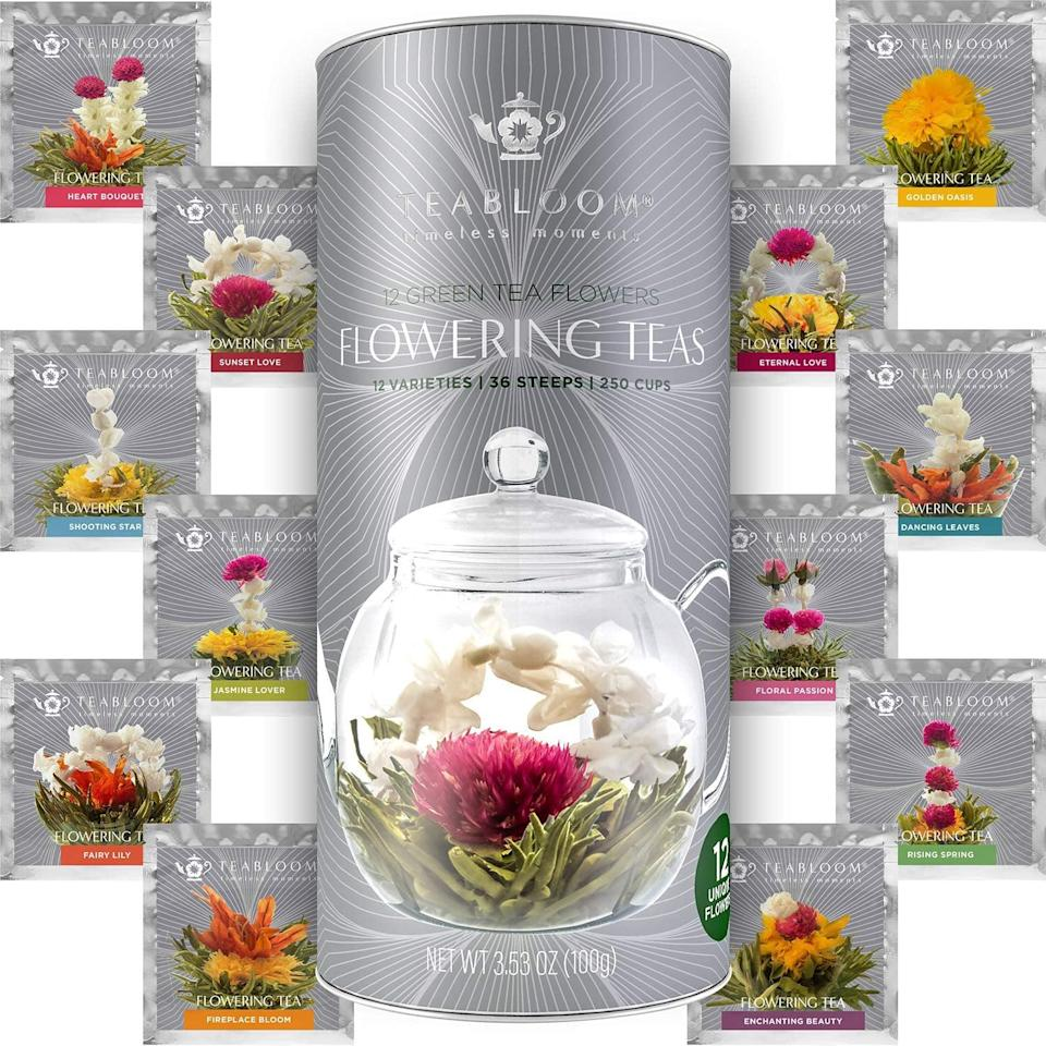 <p>The way to a perfect cup of tea are these <span>Blooming Tea Flowers</span> ($25). </p>