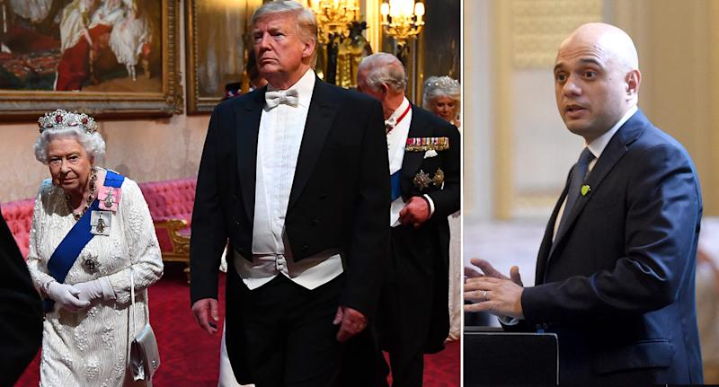 Sajid Javid is puzzled why he wasn't invited to the state banquet in honour of Donald Trump