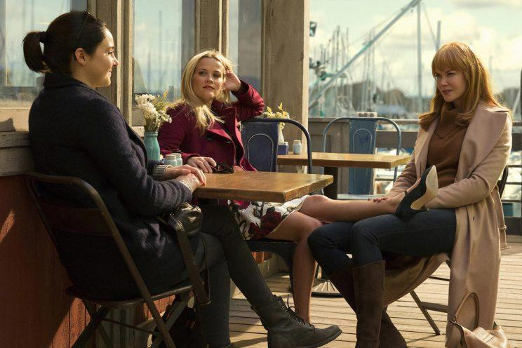 Reese Witherspoon, Nicole Kidman and Shailene Woodley in 'Big Little Lies'. (Photo: HBO)
