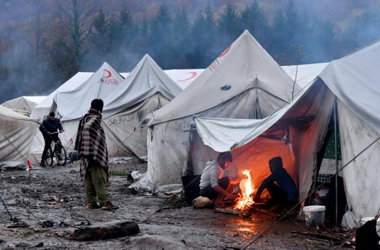 The camp is surrounded by landmines from the 1990s Bosnian war