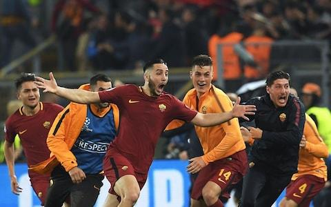 Kostas Manolas celebrates - Credit: AFP