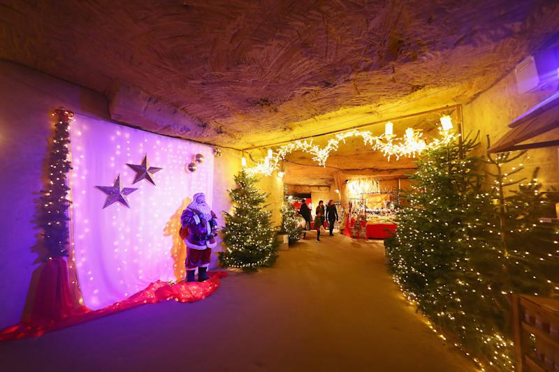 The Christmas Market Municipal Cave is the largest underground holiday market in Europe