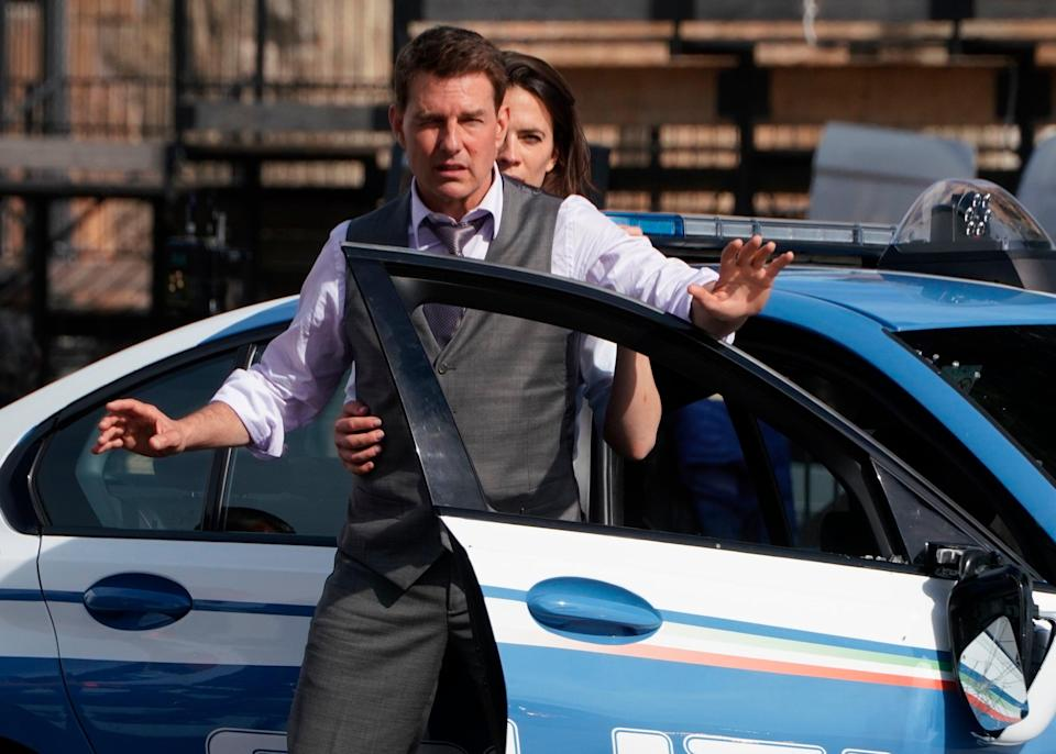 <p>Mission Impossible Set Shutdown</p> (Copyright 2020 The Associated Press. All rights reserved)