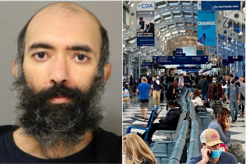 <p>Aditya Singh was arrested after spending three months living in Chicago's O'Hare airport</p> (Chicago Police Department/Getty Images)