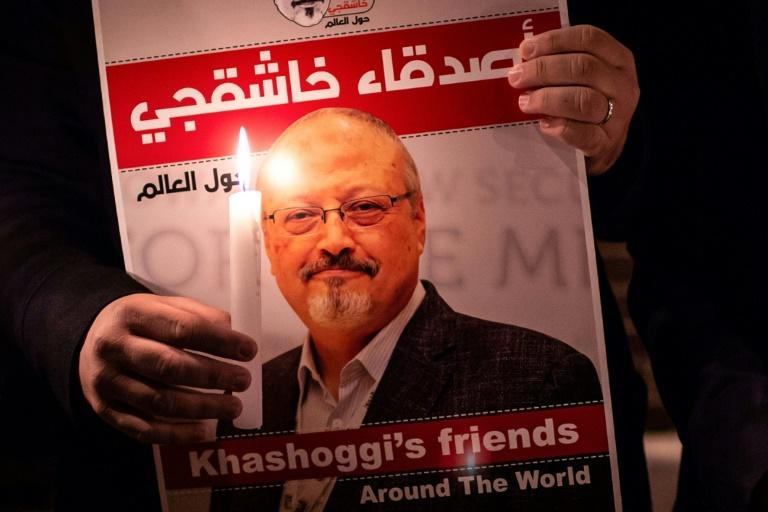 Bezos owns The Washington Post, whose columnist Saudi journalist Jamal Khashoggi was murdered in October 2018 at Riyadh's consulate in Istanbul (AFP Photo/Yasin AKGUL)