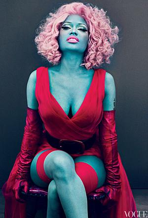 Nicki Minaj in Vogue. (Steven Klein/VOGUE)