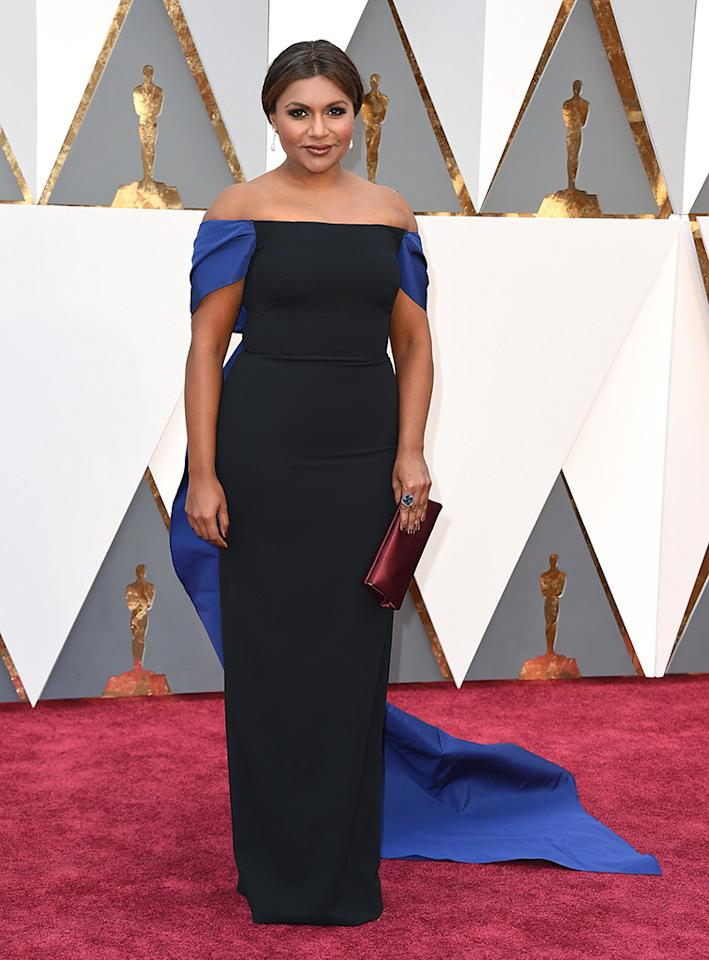 Mindy Kaling attends the 88th Annual Academy Awards at the Dolby Theatre on February 28, 2016, in Hollywood, California.