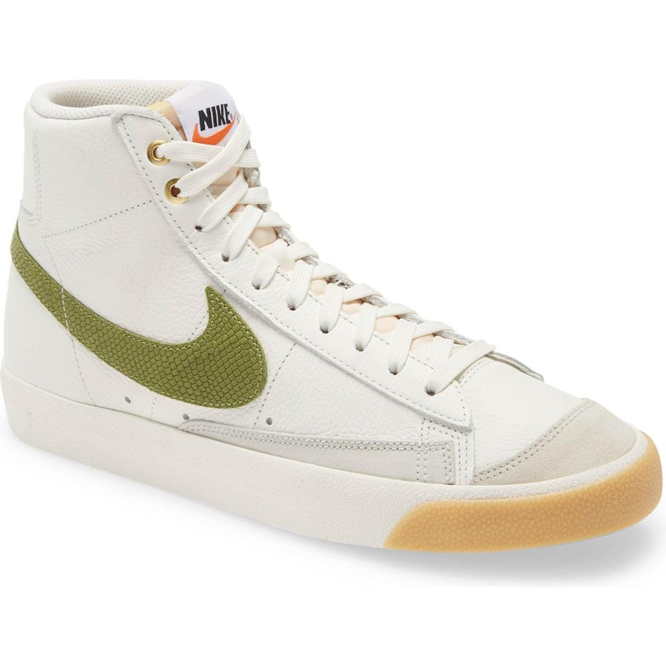 """<p><strong>Nike </strong></p><p>nordstrom.com</p><p><a href=""""https://go.redirectingat.com?id=74968X1596630&url=https%3A%2F%2Fwww.nordstrom.com%2Fs%2Fnike-blazer-mid-77-vintage-sneaker-men%2F5618274&sref=https%3A%2F%2Fwww.esquire.com%2Fstyle%2Fmens-fashion%2Fg35967248%2Fnordstrom-mens-sale-march-2021%2F"""" rel=""""nofollow noopener"""" target=""""_blank"""" data-ylk=""""slk:Shop Now"""" class=""""link rapid-noclick-resp"""">Shop Now</a></p><p><strong><del>$120.00</del> $80.40 (33% off)</strong></p><p>Meet your new go-to white sneakers.<br></p>"""