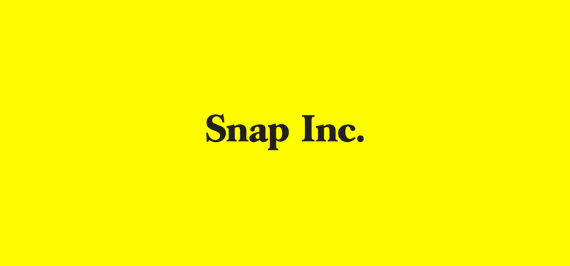 Snap Inc. written over a yellow background.