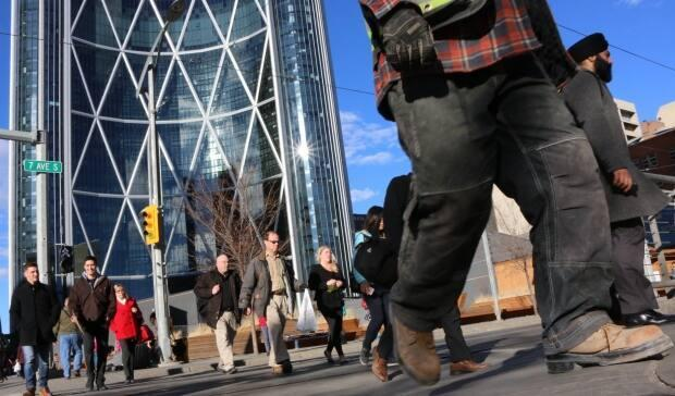 The Conference Board of Canada's national consumer confidence index inched up to 91.1 in February, but in Alberta it dropped 6.3 points to 58.3. (Evelyne Asselin/CBC - image credit)