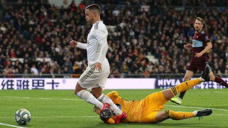 Hazard bolsters Zidane's old guard but Madrid stumble