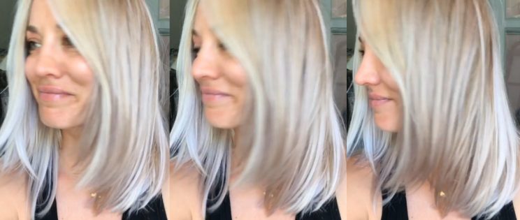 Kaley Cuoco recently showed off a new hair color on her Instagram channel. (Photo: Instagram/Normancook)