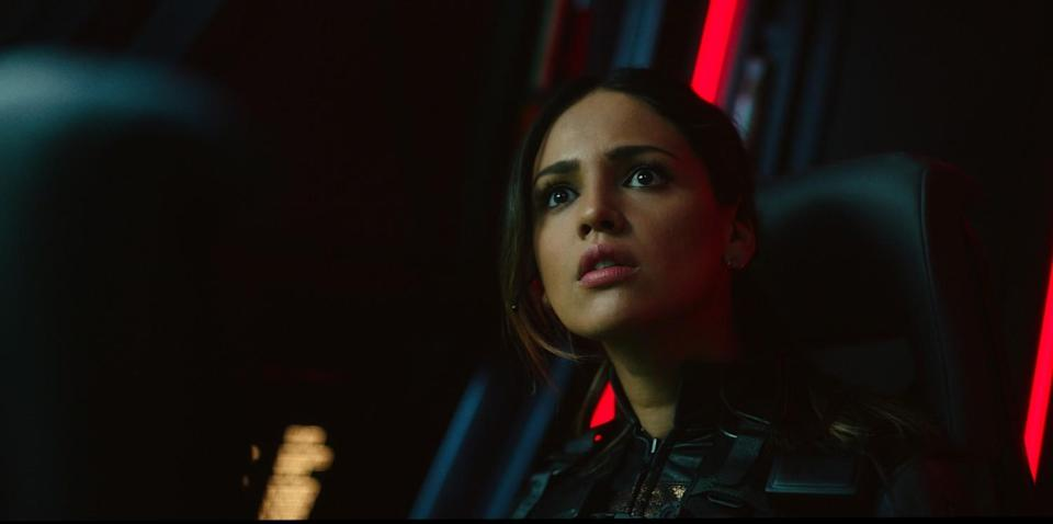 """EIZA GONZALEZ as Maia Simmons in Warner Bros. Pictures' and Legendary Pictures' action adventure """"GODZILLA VS. KONG."""""""