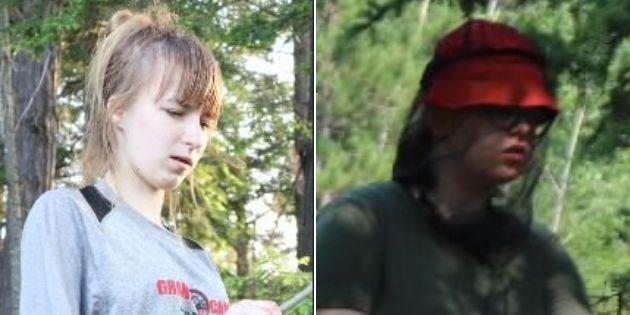 Maya Mirota, left, and Marta Malek were reported missing after they last seen on the Western Uplands Trail near Rainbow Lake in Algonquin Park on July 11, 2019.
