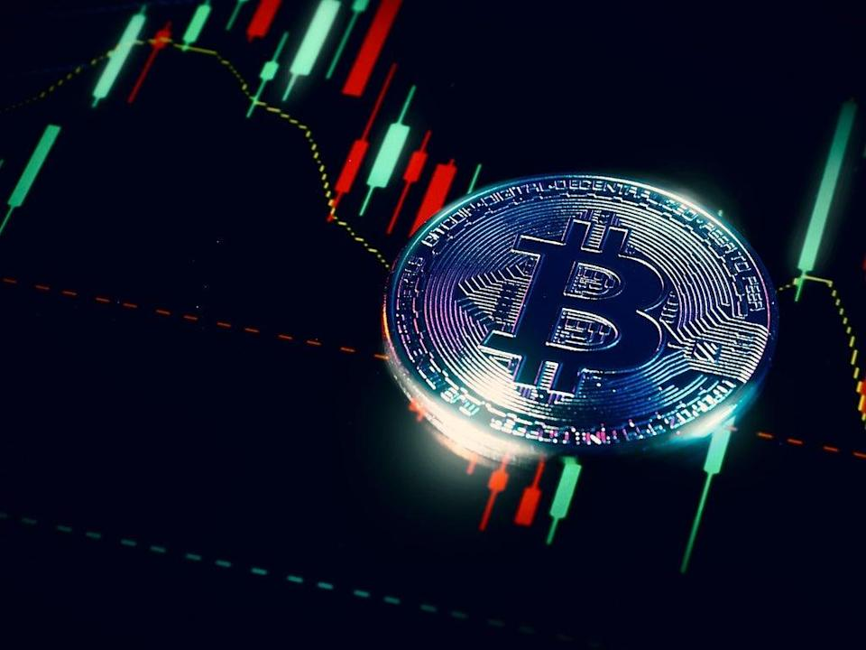 Bitcoin fell in price from above $52,000 to below $44,000 on 7 September 2021, on the same day El Salvador officially recognised the cryptocurrency as legal tender (Getty Images)