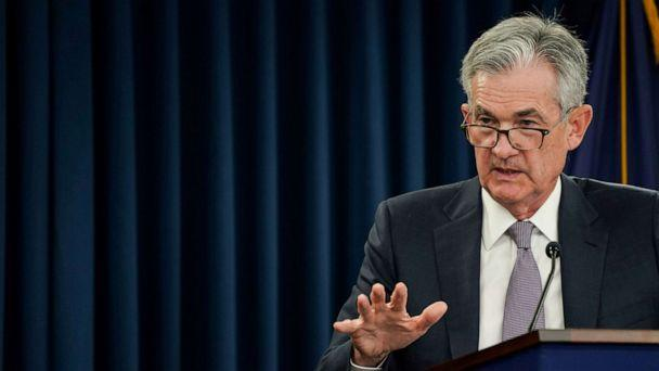 PHOTO: Federal Reserve Chairman Jerome Powell holds a news conference following a closed two-day Federal Open Market Committee meeting in Washington, Sept. 18, 2019. (Sarah Silbiger/Reuters, FILE)