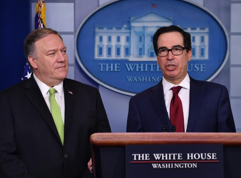 US Secretary of State Mike Pompeo and Treasury Secretary Steven Mnuchin announced new economic sanctions against Iran