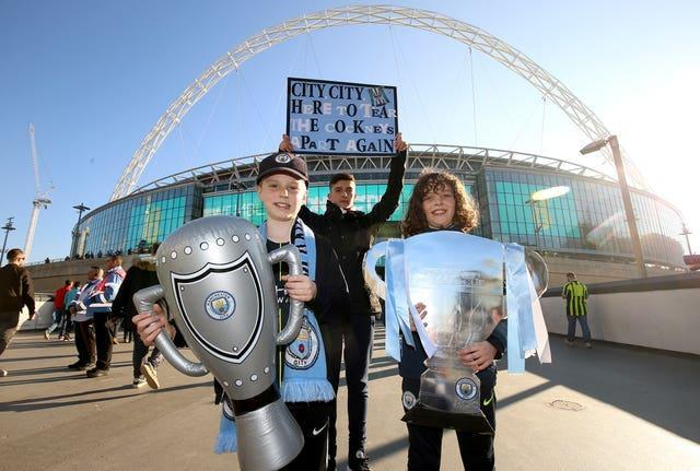 Manchester City fans at the 2019 Carabao Cup final