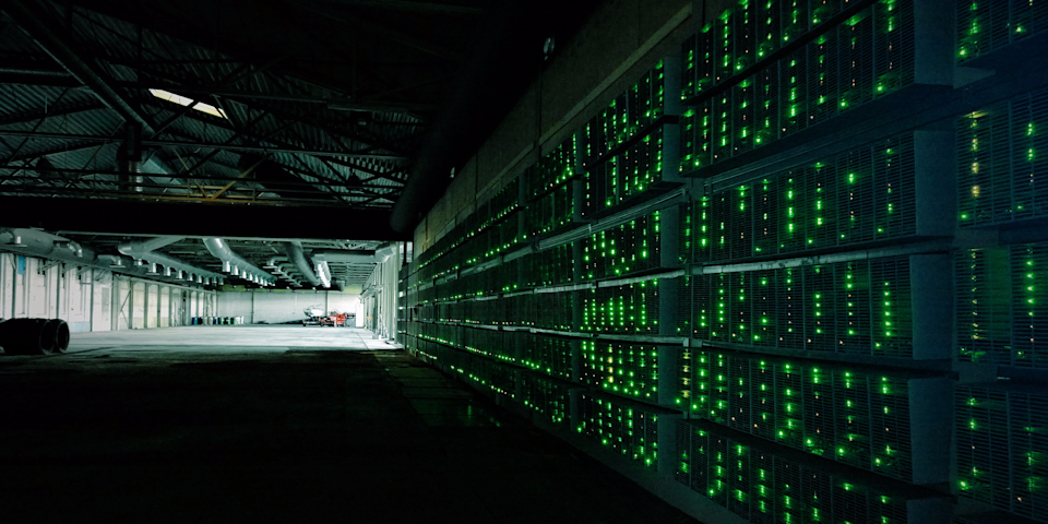 A bitcoin-mining supercomputer (Marko Ahtisaari/Flickr)