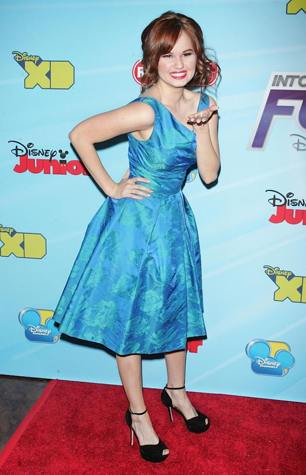 Debby Ryan attends the 2012-13 Disney Channel Worldwide Kids Upfront at the Hard  Rock Cafe - Times Square on March 13, 2012 in New York City.