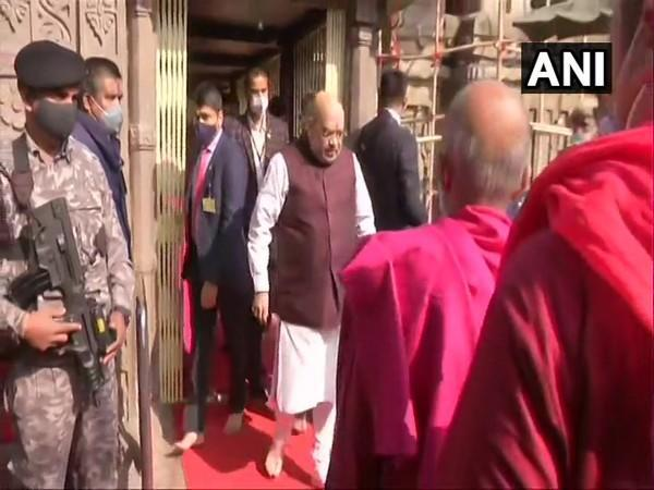 Union Home Minister Amit Shah visit famous Kamakhya Temple in Guwahati on Sunday.