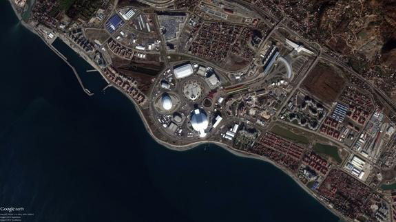 Sochi Winter Olympics Sites Seen From Space (Photos)