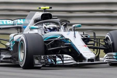 Formula One - F1 - Chinese Grand Prix - Shanghai, China - April 13, 2018 - Mercedes' Valtteri Bottas during practice. REUTERS/Aly Song