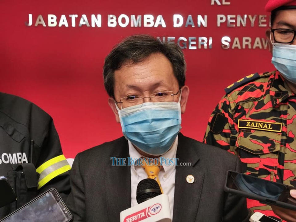 Datuk Seri Dr Sim Kui Hian said the task force will schedule more than one million vaccine doses each month from June to August. — Picture by Roystein Emmor/Borneo Post