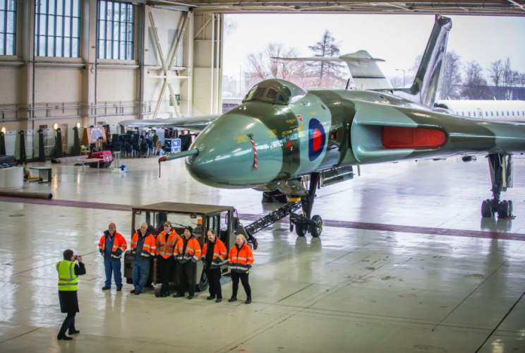 The XH558 Vulcan Bomber is going into hibernation before it is brought back to public view (PA)