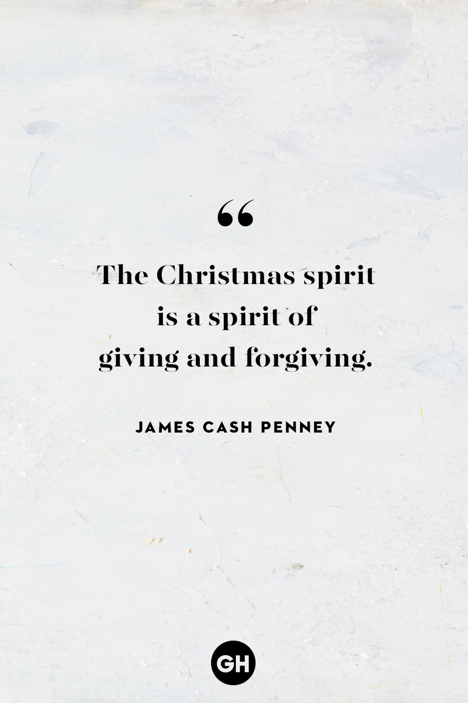 <p>The Christmas spirit is a spirit of giving and forgiving.</p>